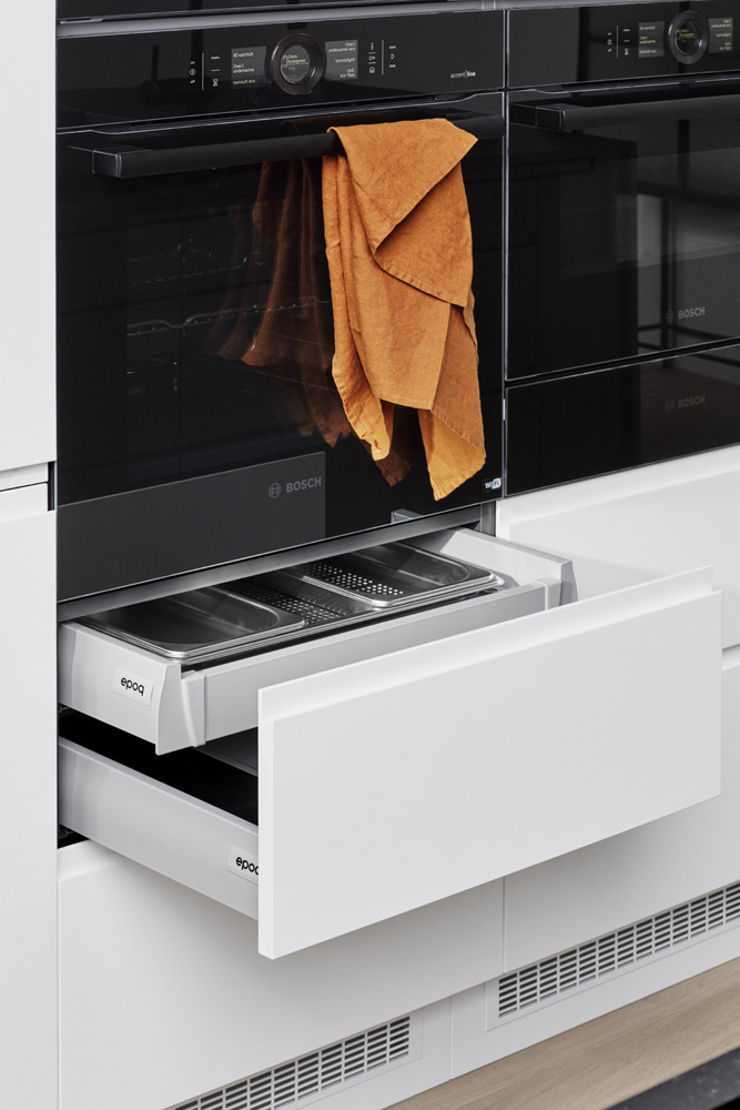 Integra Black  Chalk K01B Integrated drawers under oven 00148